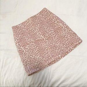 Wild Fable pink leopard miniskirt